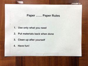 mar 5 paper paper rules