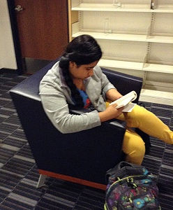 sep 17 caught reading in chair